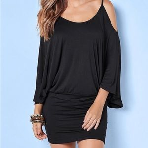 Venus black mini dress